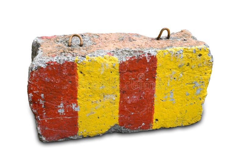 Camino que bloquea la piedra sobre el fondo blanco fotografía de archivo libre de regalías