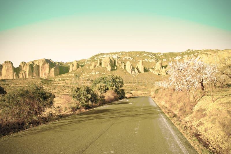 Camino que lleva al barranco imagenes de archivo