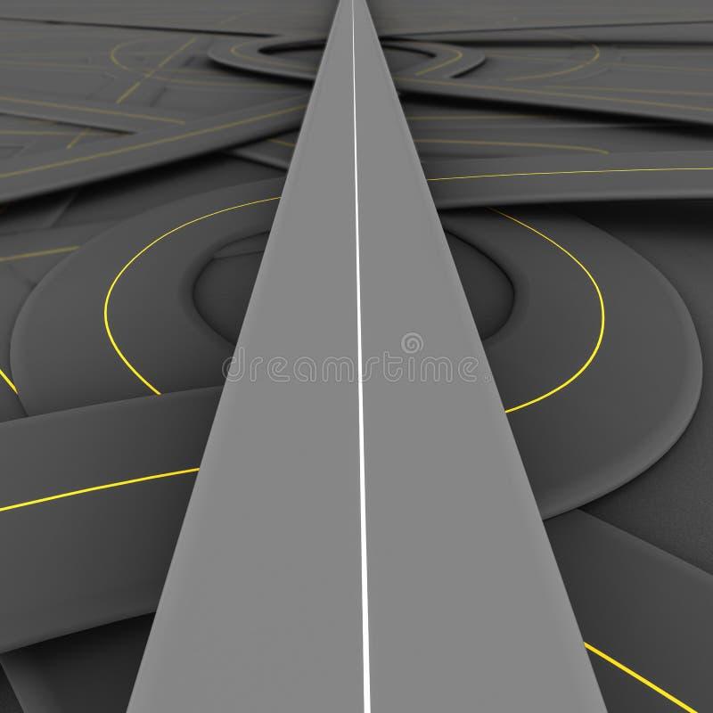 Camino recto ilustración del vector
