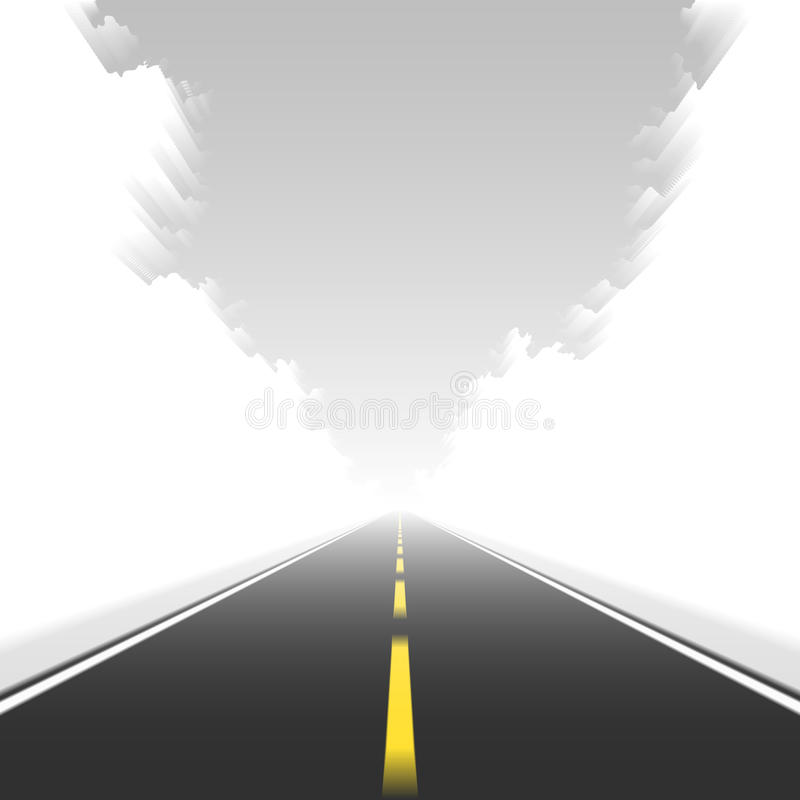 Camino recto en el movimiento. Vector. libre illustration