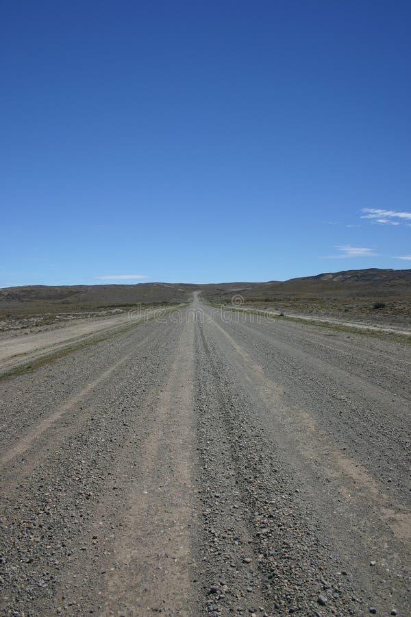 Camino recto sin fin la Argentina fotografía de archivo libre de regalías