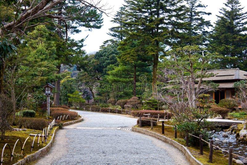 Camino rocoso en el parque fotografía de archivo libre de regalías