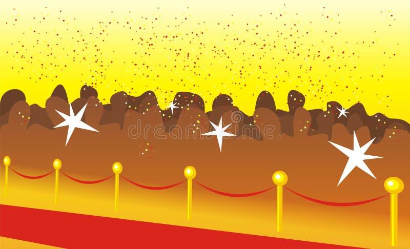 Camino rojo solemne ilustración del vector