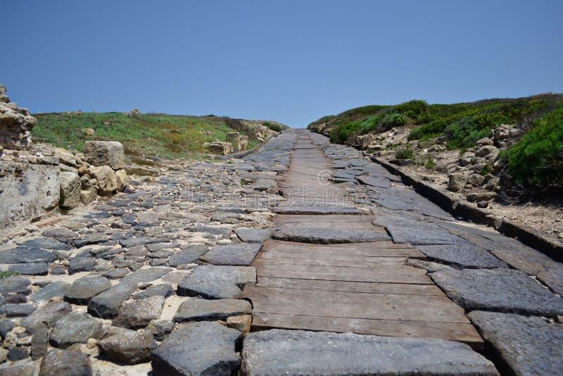 Camino romano, Cerdeña foto de archivo libre de regalías