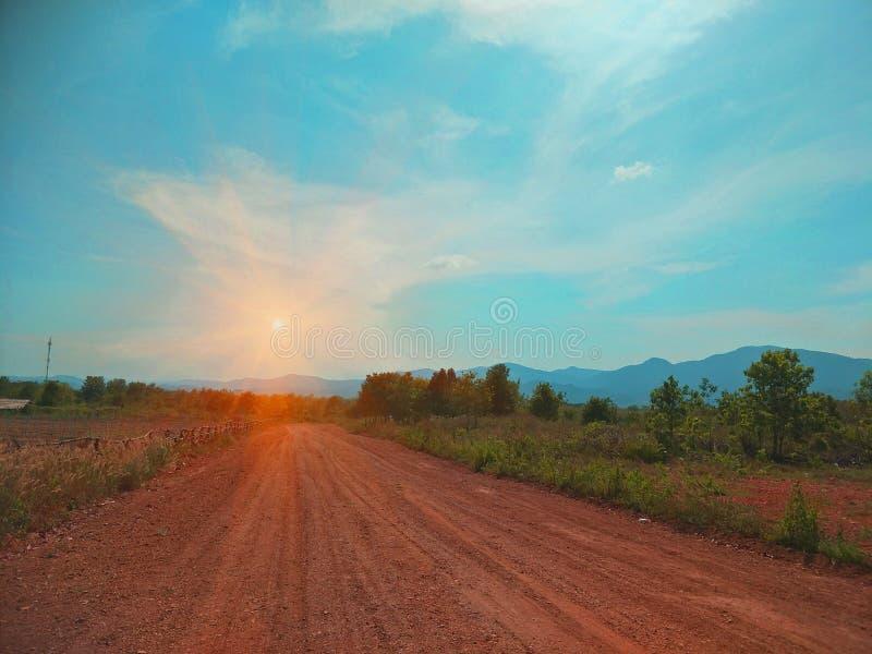 Camino rural en Tailandia foto de archivo libre de regalías