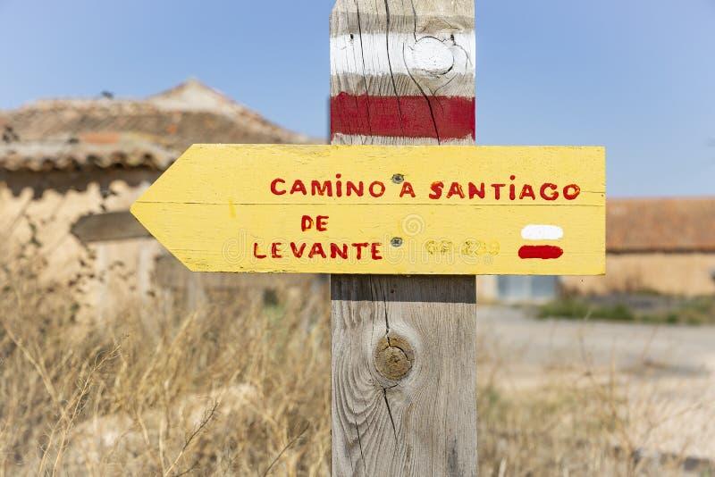 Camino Santiago de Levante, GR-239, maneira de Saint James foto de stock royalty free