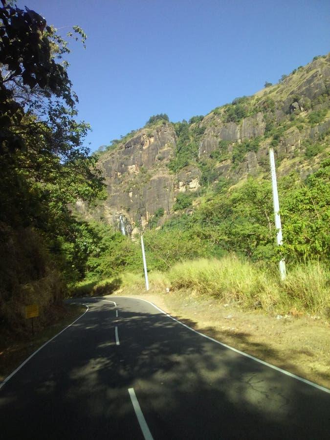 Camino Sri Lanka del wellawaya de Rawana Ella fotografía de archivo