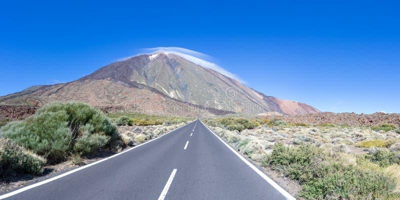 Camino a Teide en Tenerife foto de archivo libre de regalías