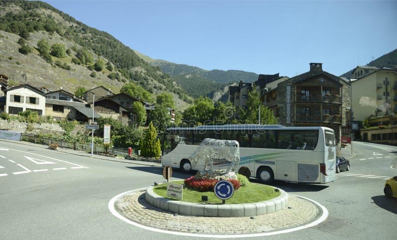 Camino a través de Andorra fotografía de archivo