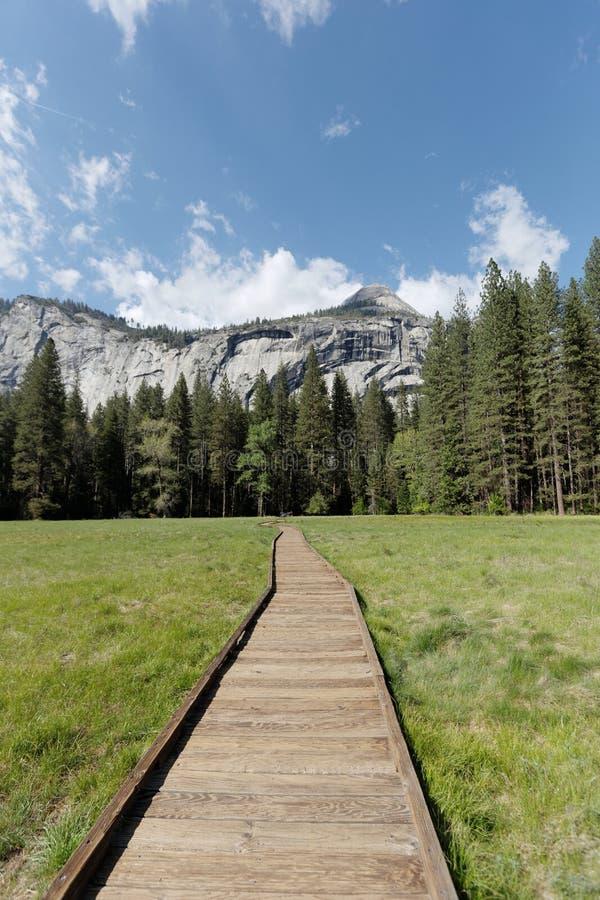 Camino a través del parque nacional de Yosemite fotografía de archivo libre de regalías