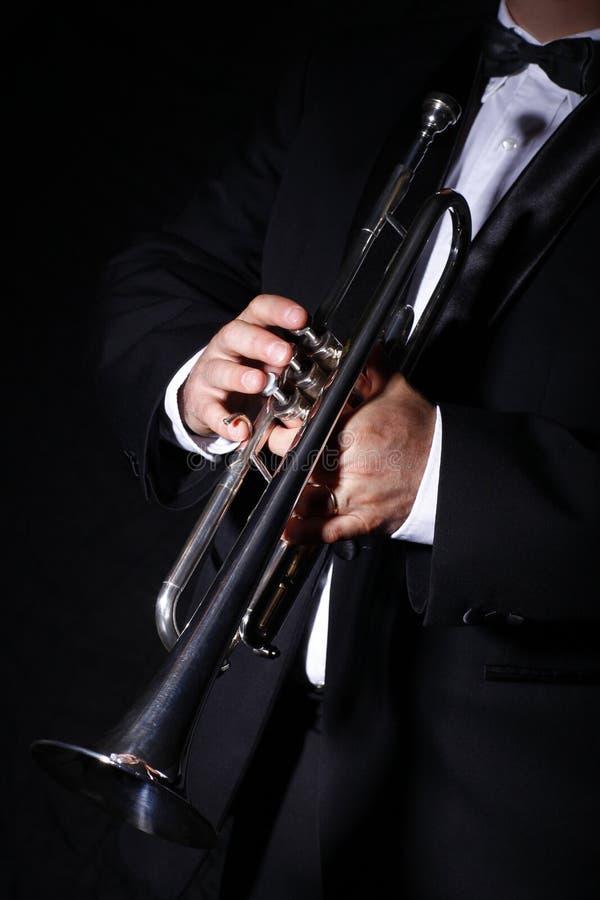 Camino, tromba, musica fotografie stock