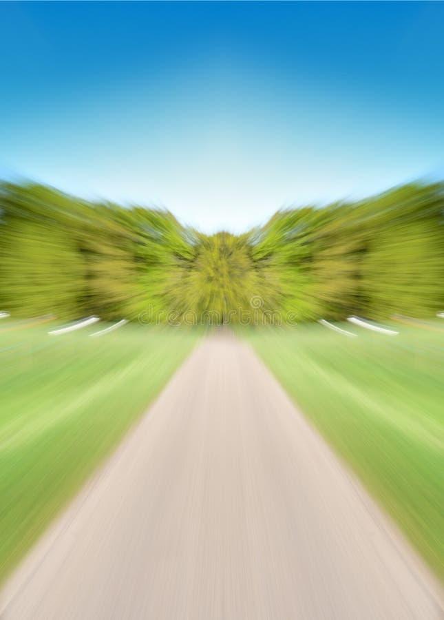 Camino vacío con la falta de definición de movimiento fotos de archivo