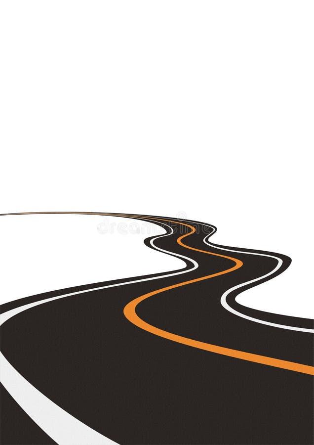 Camino (vector) stock de ilustración