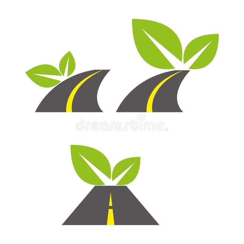 Camino verde ilustración del vector