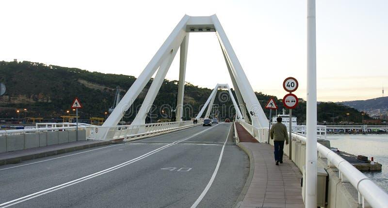 Camino y puente levadizo imagen de archivo libre de regalías