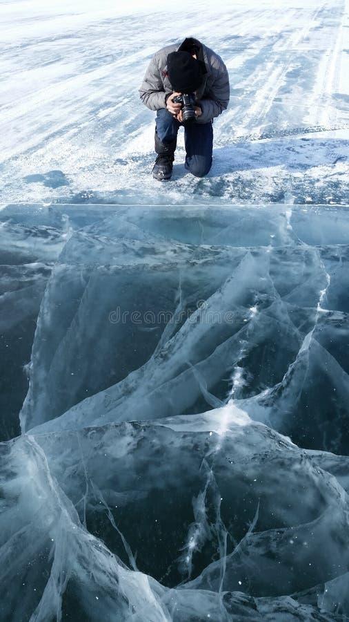 Camino Yellowkinife del hielo fotos de archivo