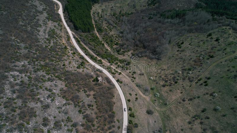 Caminos Curvy de la montaña imagen de archivo libre de regalías