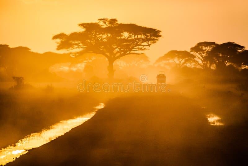 Caminos de África fotos de archivo