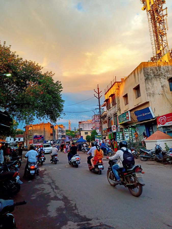 Caminos de la calle de la India foto de archivo libre de regalías