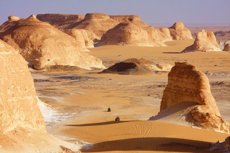 Caminos del desierto imágenes de archivo libres de regalías
