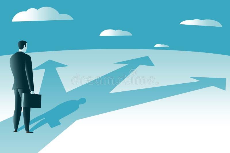 Caminos del empalme Manera al éxito stock de ilustración