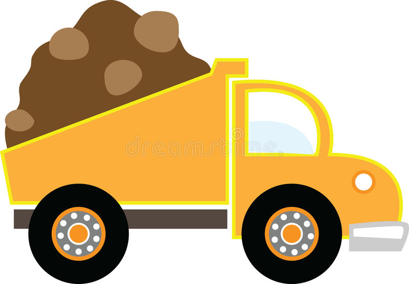 Camion à benne basculante illustration stock