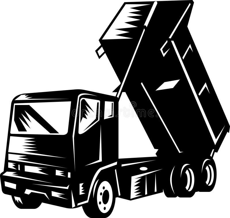 Camion à benne basculante d'isolement sur le blanc illustration de vecteur