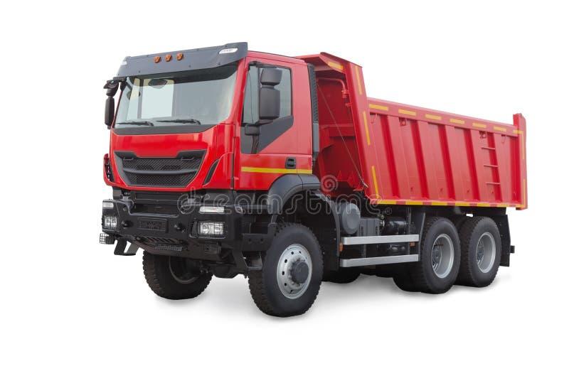 Camion à benne basculante d'isolement sur le blanc image stock