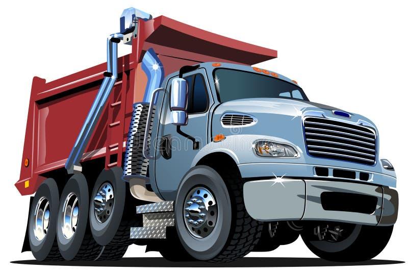 Camion à benne basculante de bande dessinée de vecteur illustration libre de droits