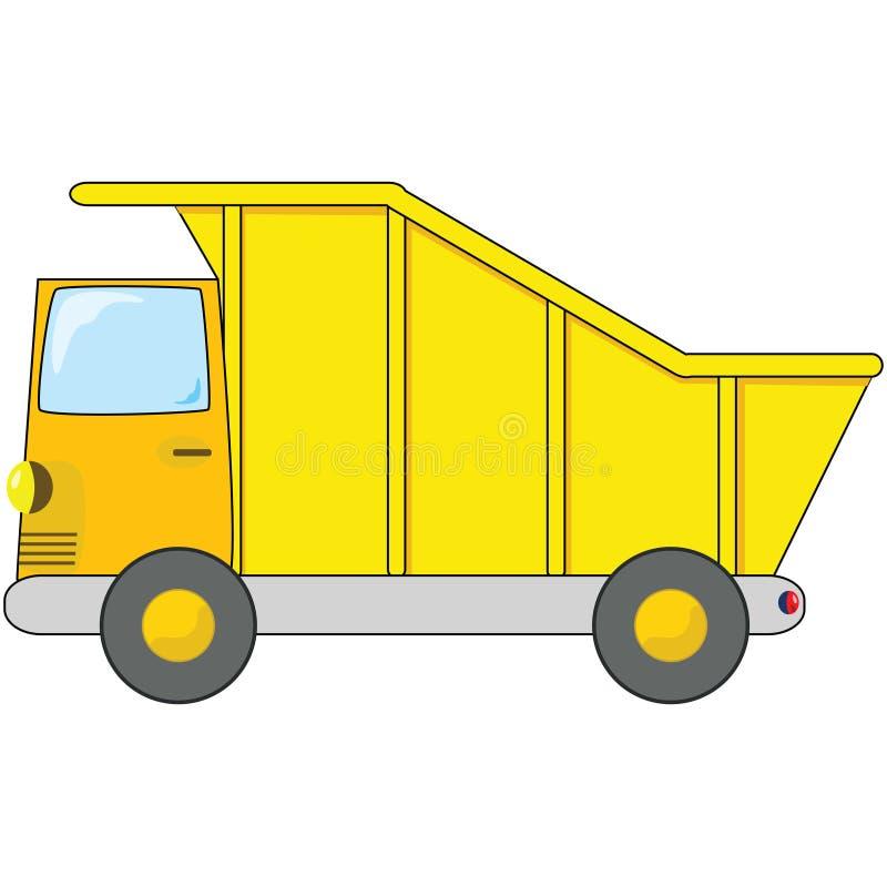 camion à benne basculante de dessin animé illustration stock