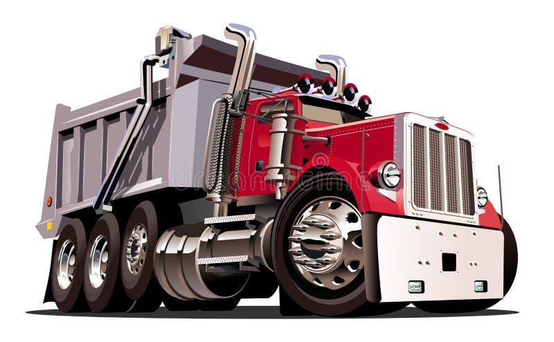 Camion à benne basculante de dessin animé de vecteur illustration de vecteur