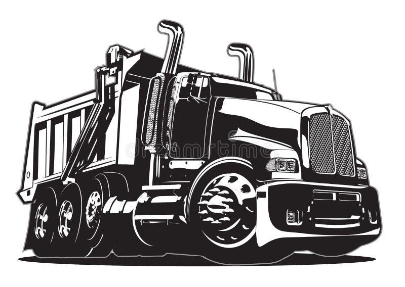 Camion à benne basculante de dessin animé de vecteur illustration stock