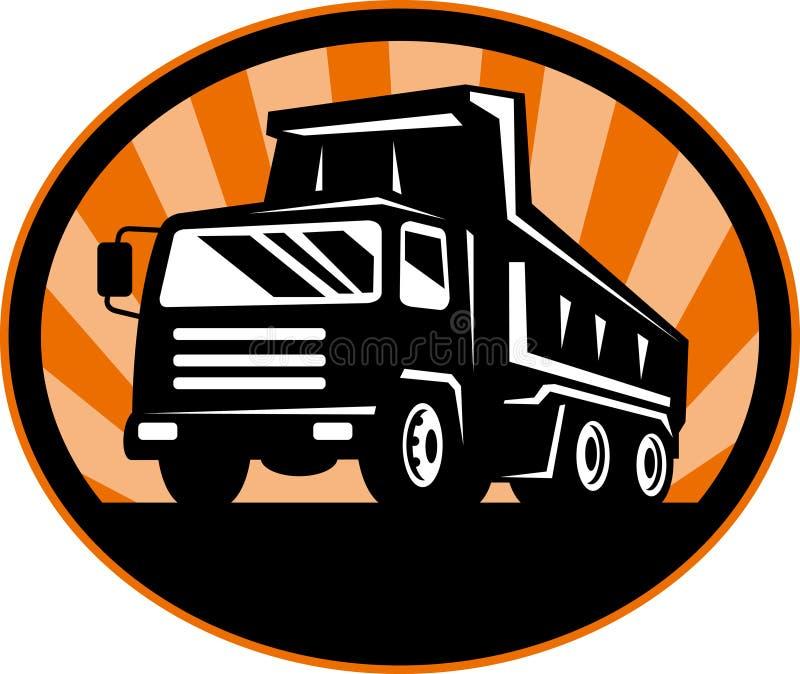 Camion à benne basculante visualisé de la vue de face illustration libre de droits