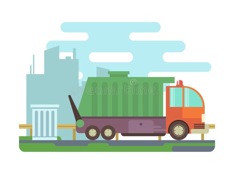 Camion à ordures illustration de vecteur