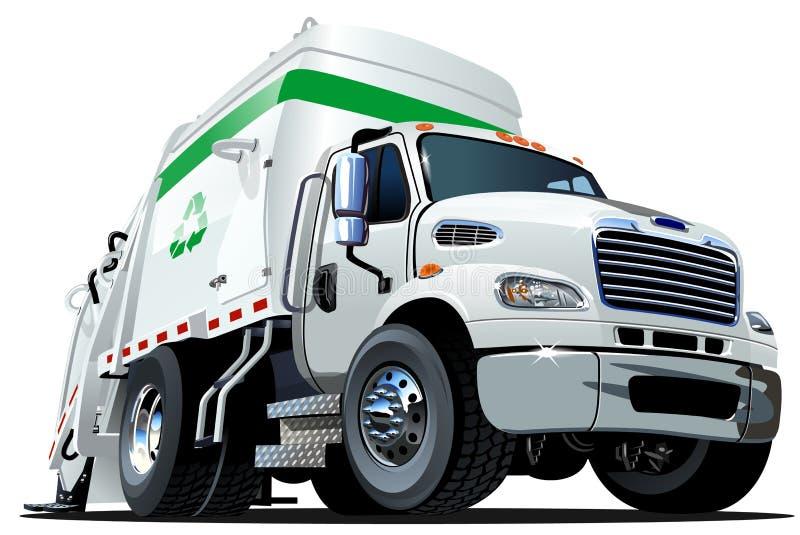 Camion à ordures de bande dessinée illustration stock