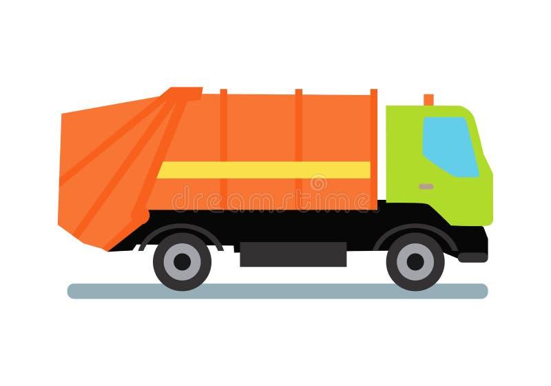 Camion à ordures orange illustration libre de droits