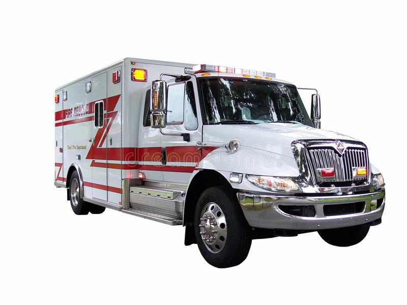 Camion 1 de sauvetage d'incendie images libres de droits