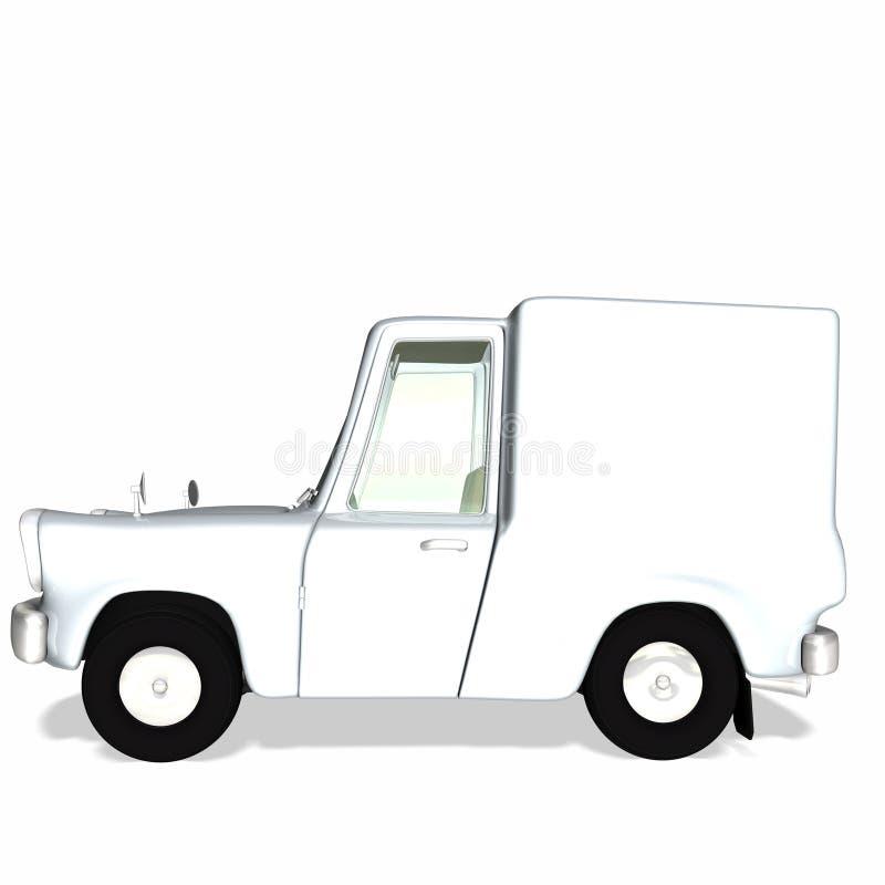 Camion 2 del carico di consegna di Toon illustrazione vettoriale