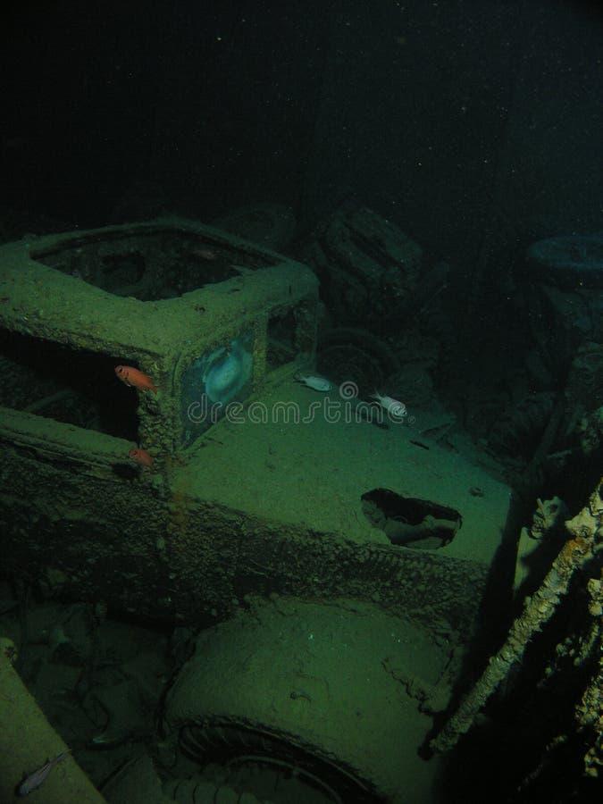 Camion all'interno del naufragio di HMSS Thi fotografie stock