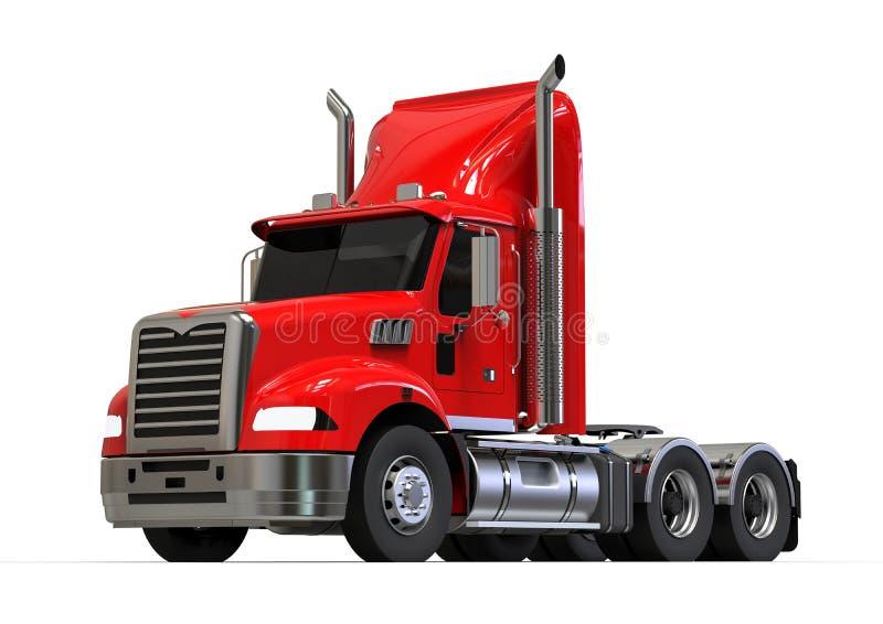 Camion américain rouge illustration libre de droits