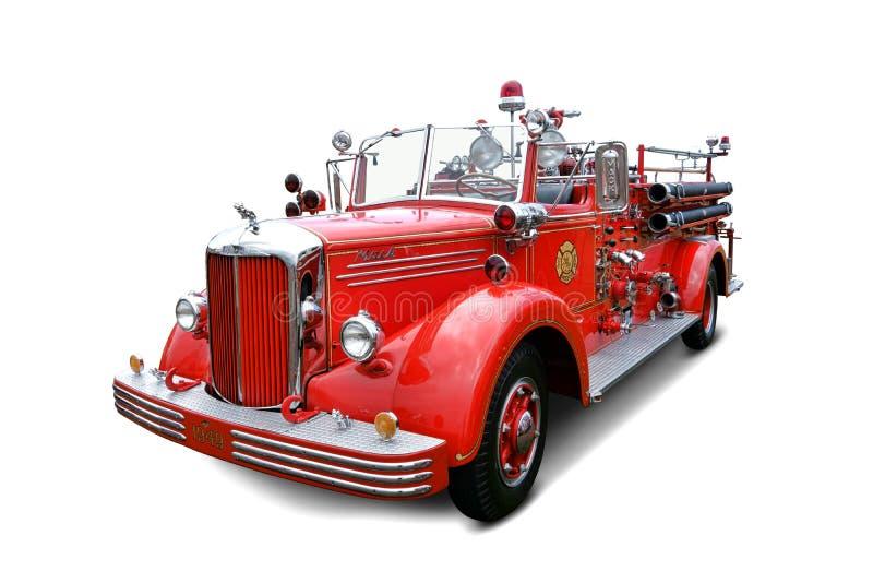 Camion antique de Mack Pumper Fire Engine Vintage photographie stock libre de droits