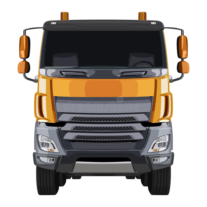 Camion arancio anteriore illustrazione vettoriale