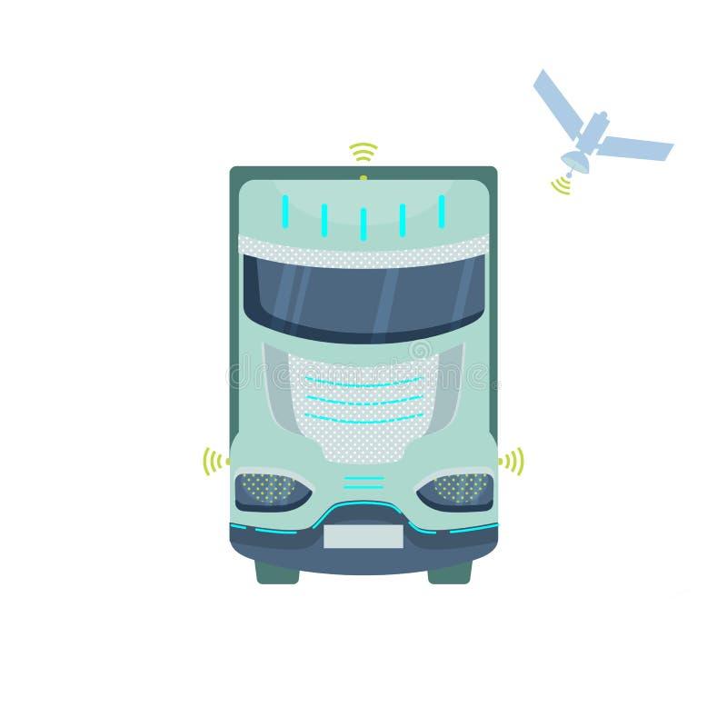 Camion auto-moteur autonome illustration stock