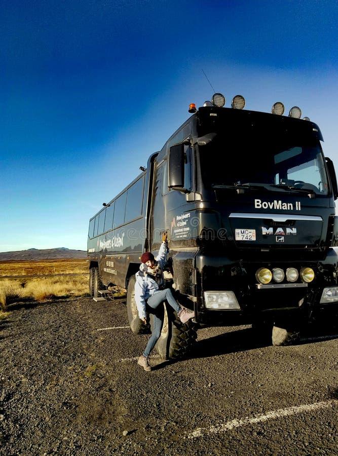 Camion-autobus de Tipical en Islande images libres de droits