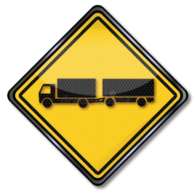Camion avec la remorque de deux-axe illustration stock