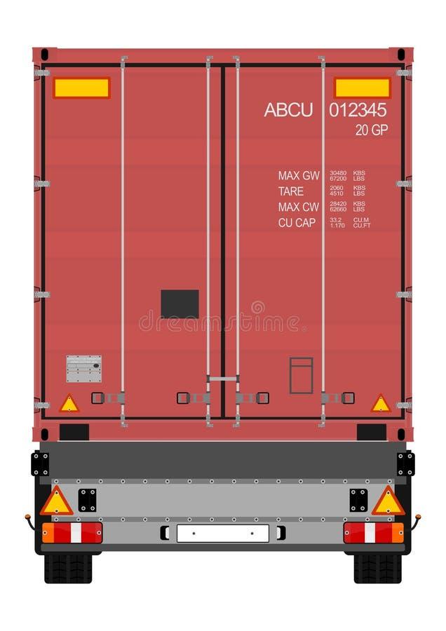 Download Camion avec le conteneur illustration de vecteur. Illustration du cadre - 45350296