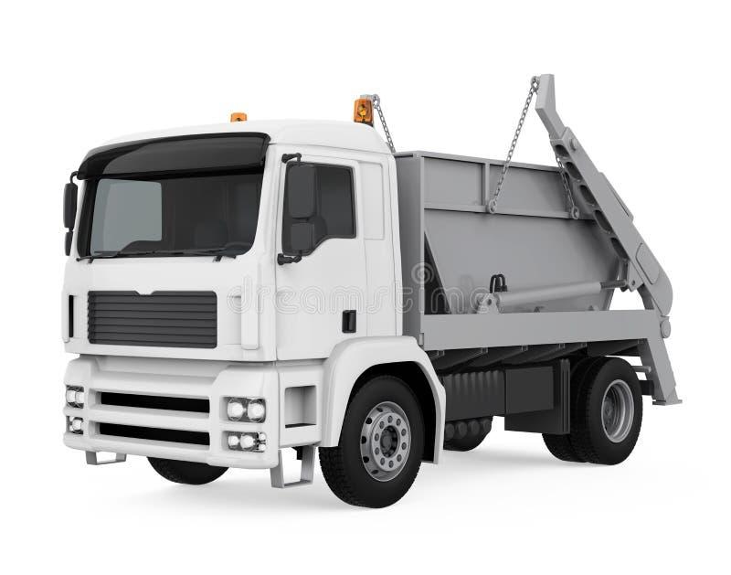 Camion ? benne basculante de verseur d'isolement illustration stock
