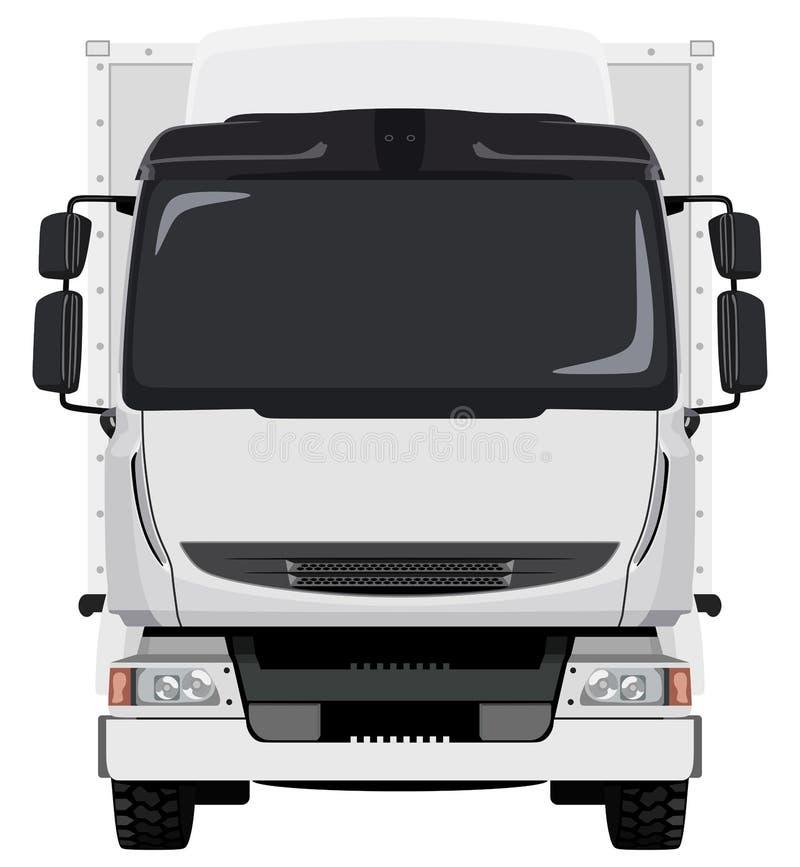 Camion bianco anteriore illustrazione vettoriale