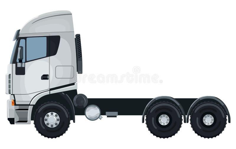 Camion bianco senza rimorchio royalty illustrazione gratis