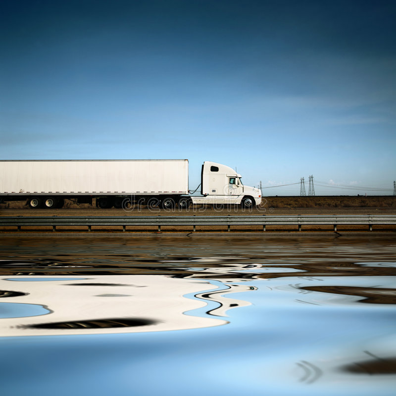 Camion blanc images libres de droits